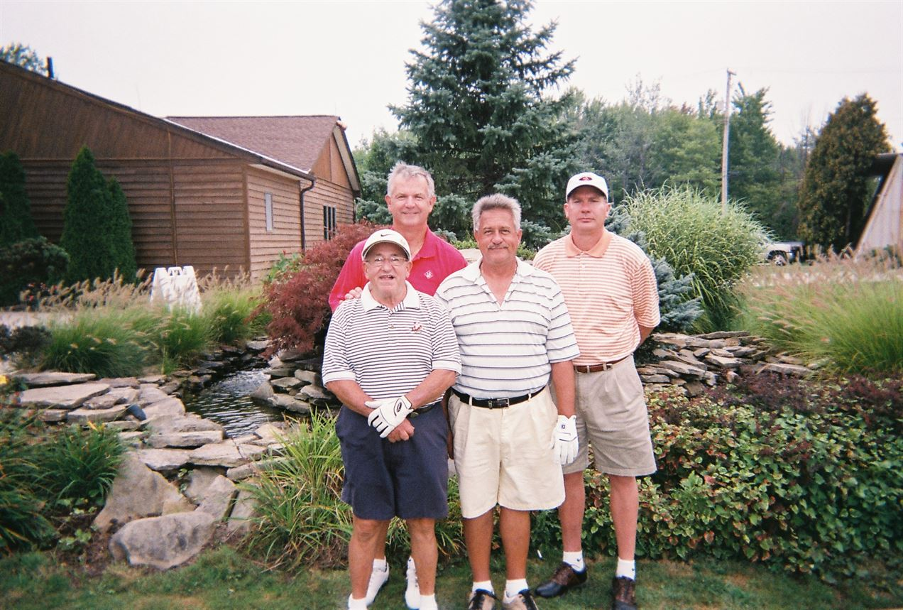 (Front Row) Mike Pasqualone, Mark Pasqualone, (Back Row) Mike Blauman, Brad Ellis